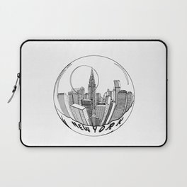 THE CITY of New York in a Suspended Bowl . Artwork Laptop Sleeve