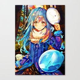 Colorful Slime Canvas Print