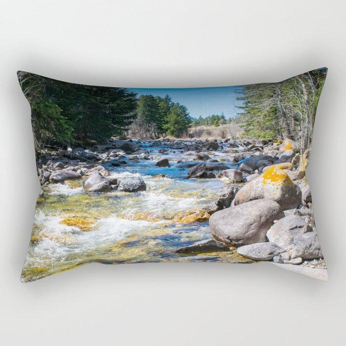 River Calm 3 Rectangular Pillow