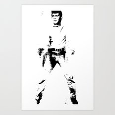 FPJ black and white Art Print