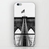 brooklyn bridge iPhone & iPod Skins featuring Brooklyn Bridge by Graham Dunk