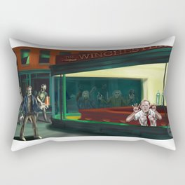 Nighthawks of the Dead Rectangular Pillow
