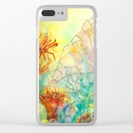 Seaflowers ll Clear iPhone Case