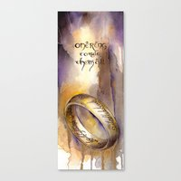 lord of the ring Canvas Prints featuring One Ring by Kinko-White