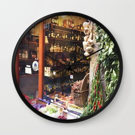 Florence Wine Shop #Photography #Italy #Firenze #Florence Wall Clock