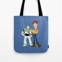 toy story Tote Bags featuring toy story by Live It Up