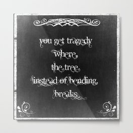 Typography: Inspirational Quote on Wisdom Metal Print
