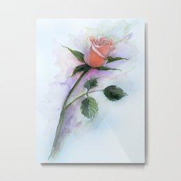 A Peach Rose Metal Print
