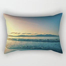 Oban | Musical Crime Productions | Scottish Seascape | Sunset Rectangular Pillow