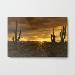 A Southwestern Sunrise Metal Print
