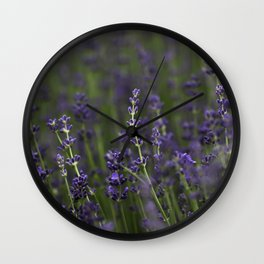 Lavender Buds Wall Clock