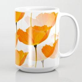 Orange Poppies On A White Background #decor #society6 #buyart Coffee Mug