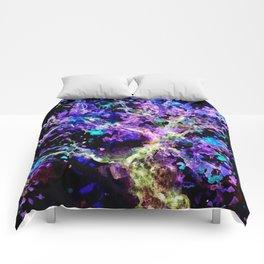 Wild Neon Apple Tree Watercolor Comforters