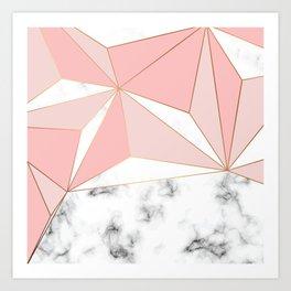 Marble & Geometry 042 Art Print