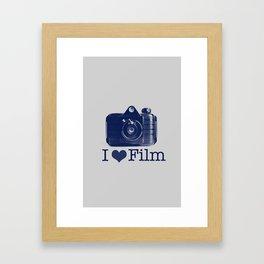 I ♥ Film (Grey/Navy) Framed Art Print