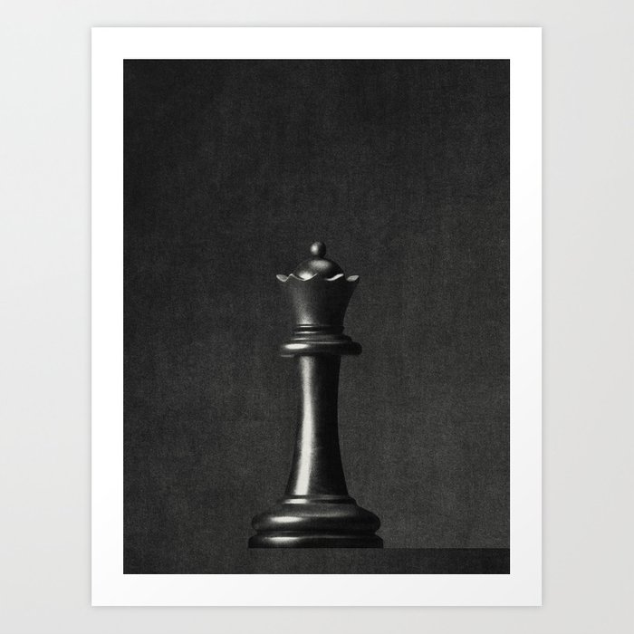 GAME OF THE THRONE / The Black Queen Art Print