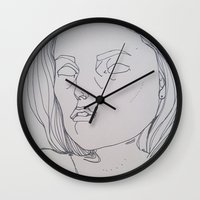 dana scully Wall Clocks featuring DANA SCULLY / THE TRUTH IS OUT THERE by ANNI JW