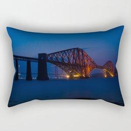 Forth rail bridge at night 2 Rectangular Pillow