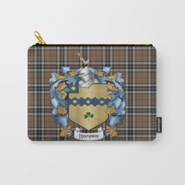 Thompson Crest and Tartan Carry-All Pouch