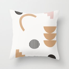 Eugenia - abstract minimal art print, muted art, earth tones, abstract art prints Throw Pillow