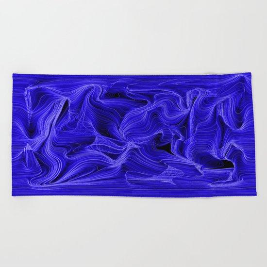 Midnight Blue Mist Beach Towel