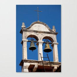 Twin Bells at Old Church Canvas Print