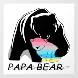 Papa Bear Genderflux Art Print
