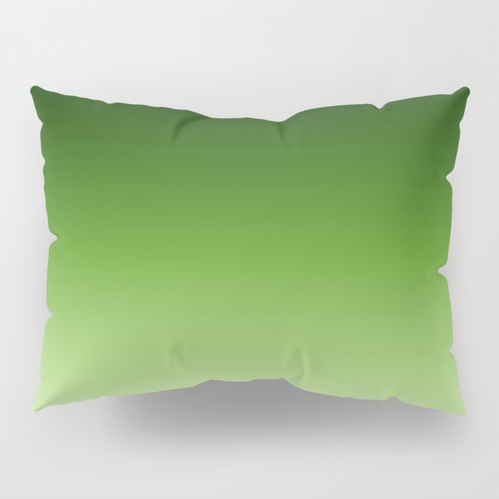 Green. Ombre . Pillow Sham