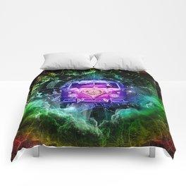 galaxy vintage voyager world map design 1 Comforters
