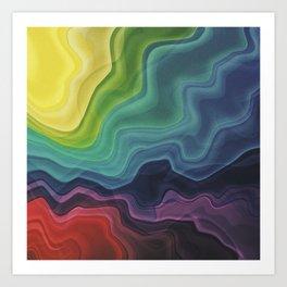 Retro Waves Art Print