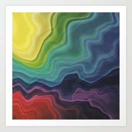 Retro Waves Art Print
