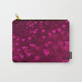 Valentine's Day | Romantic Crimson Galaxy | Universe of pink purple hearts Carry-All Pouch