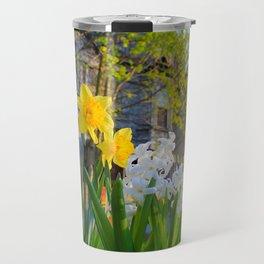 Daffodils and Dilapidation Travel Mug