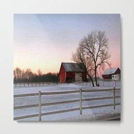 Winter Ranch Metal Print