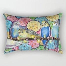 Parakeet Theater Rectangular Pillow