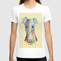 greyhound T-shirts featuring Greyhound by EloiseArt
