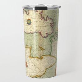 Vintage Map of The British Isles (1707) Travel Mug