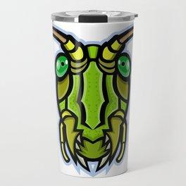 Grasshopper Head Mascot Travel Mug