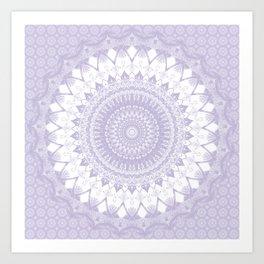Boho Pastel Purple Mandala Kunstdrucke