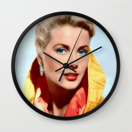 Grace Kelly, Hollywood Legend Wall Clock