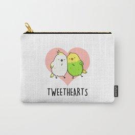 Tweet Hearts Cute Bird Pun Carry-All Pouch