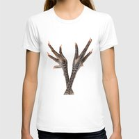 feet T-shirts featuring Chicken feet by Elisabeth Coelfen