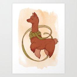 Scarf Alpaca Art Print