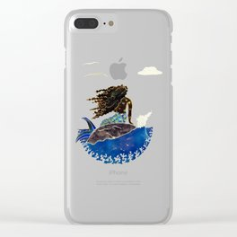 Lady of the Atlantic Crossing Clear iPhone Case