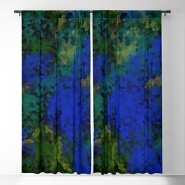 Peacock crystal mosaic Blackout Curtain