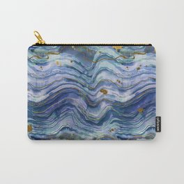 Blue Green Geode Watercolor Carry-All Pouch