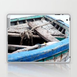 Rustic Wooden Turquoise Boat Laptop & iPad Skin