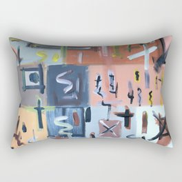 Colourful Chaos II Rectangular Pillow