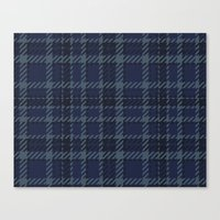 plaid Canvas Prints featuring Plaid by Xiao Twins