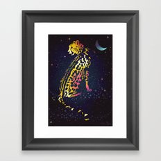 Space Leopard Framed Art Print